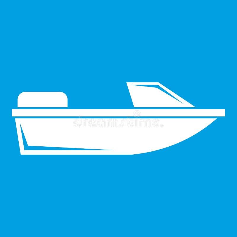 Vit för sportpowerboatsymbol royaltyfri illustrationer