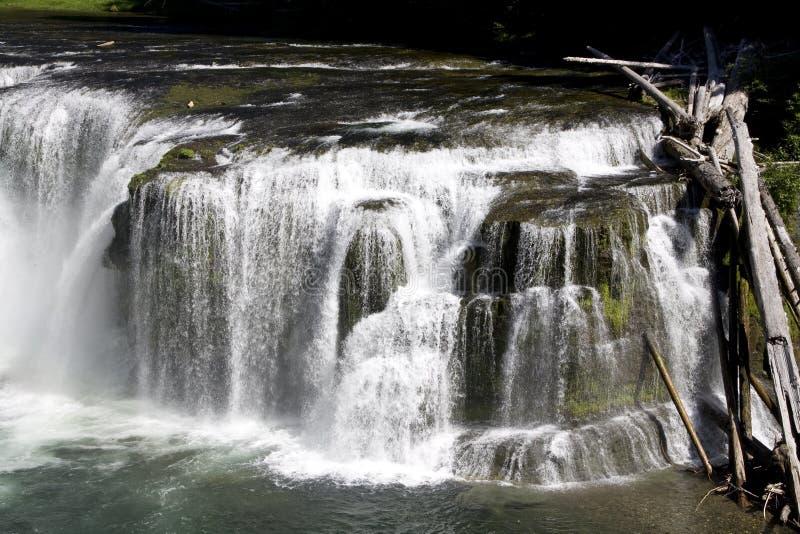 Vit för vatten för vattenfallnedgångvattenfall  fotografering för bildbyråer