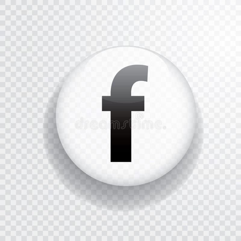 Vit f-knapp vektor illustrationer