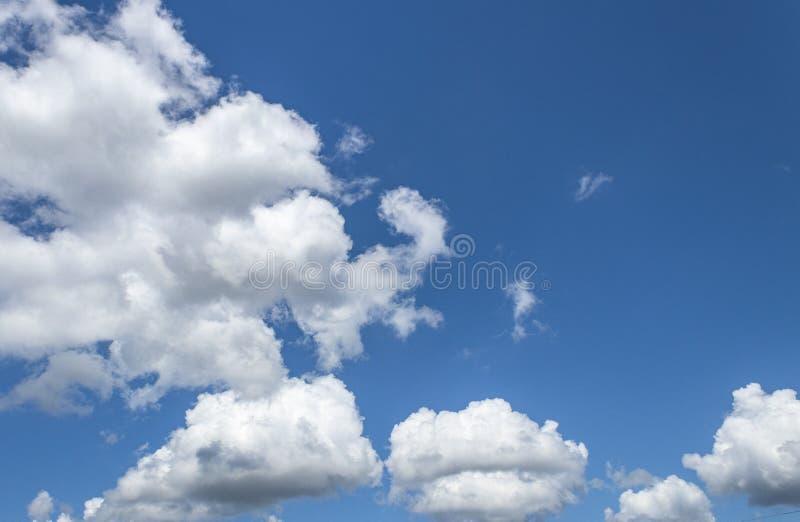 Vit f?r bl? himmel f?rdunklar bakgrund royaltyfria foton
