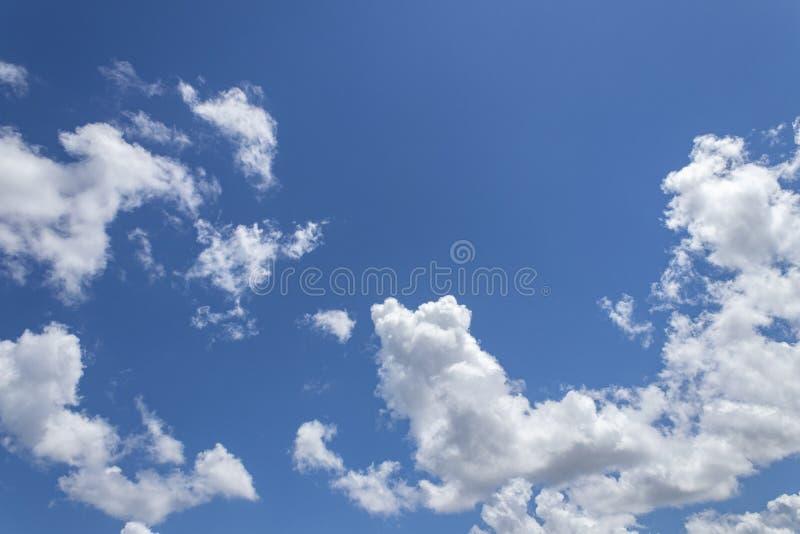 Vit f?r bl? himmel f?rdunklar bakgrund arkivfoton