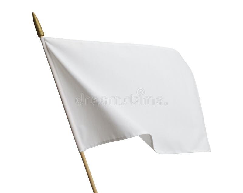 Vit flagga royaltyfri bild