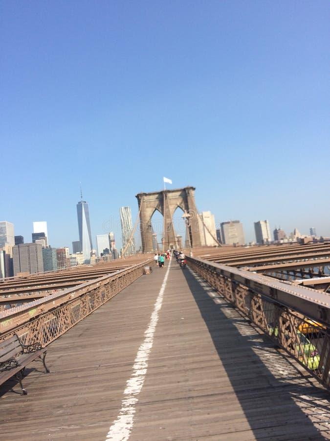 Vit flagga för Brooklyn bro royaltyfri bild