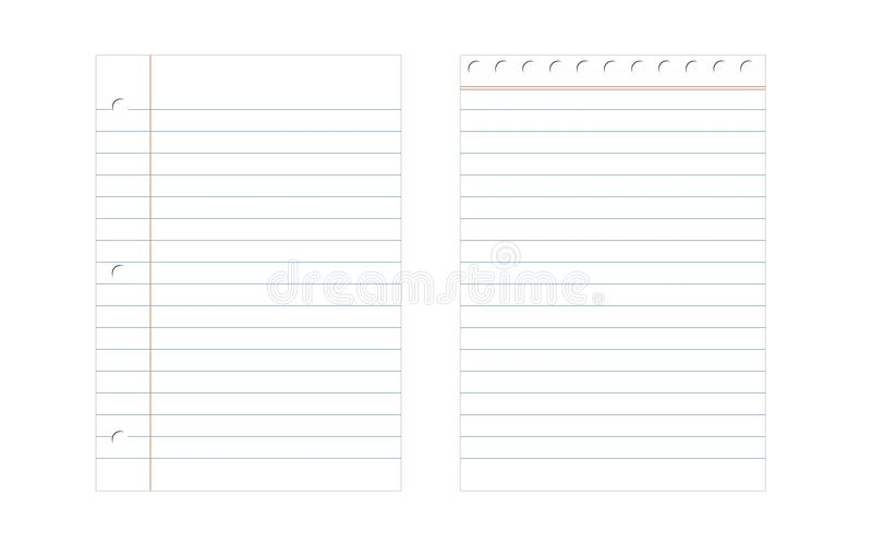 Fodrat pappers- vektor illustrationer