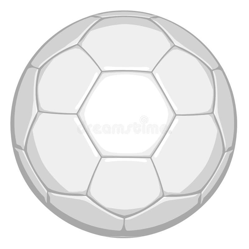 Vit fotboll i redigerbart vektorformat stock illustrationer