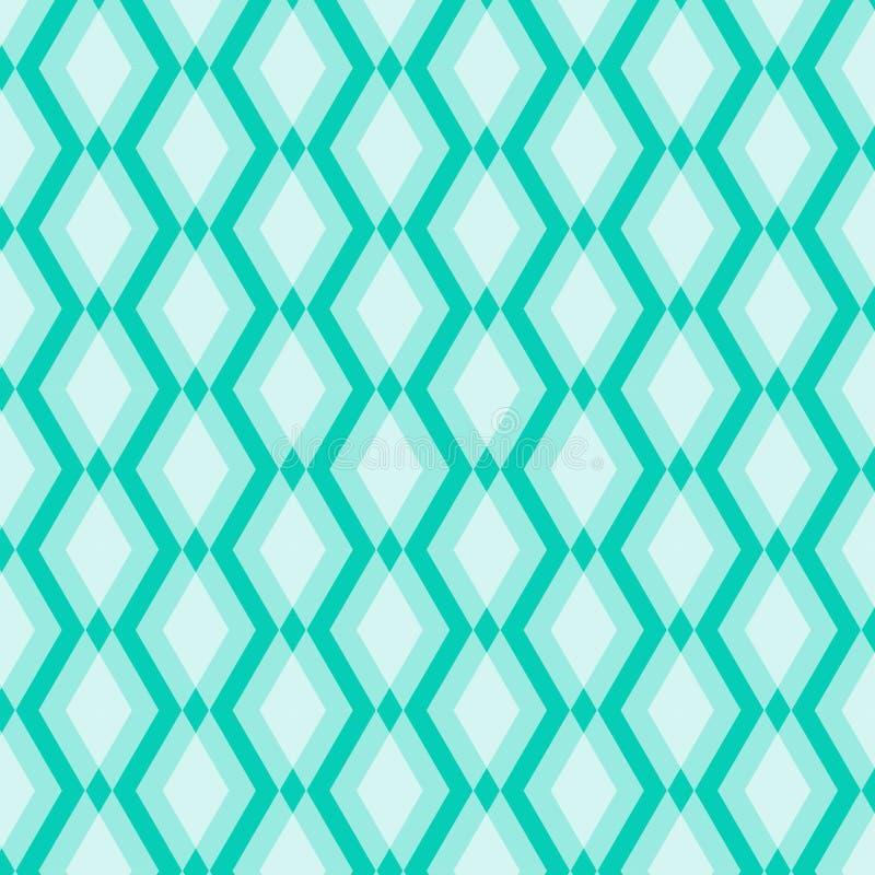 Vit geometrisk modell på blå bakgrund royaltyfri illustrationer