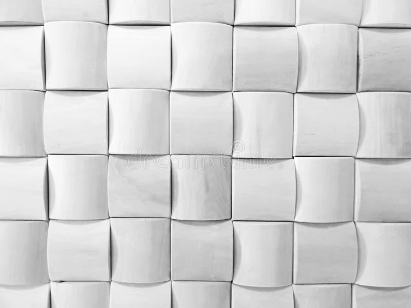 Vit geometrisk modelldesign arkivbild