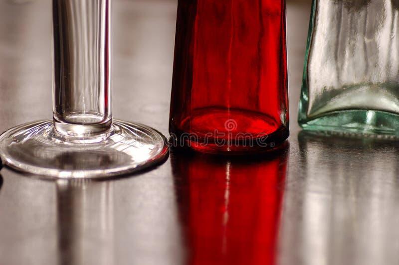 Vit Glases som är röd och fotografering för bildbyråer