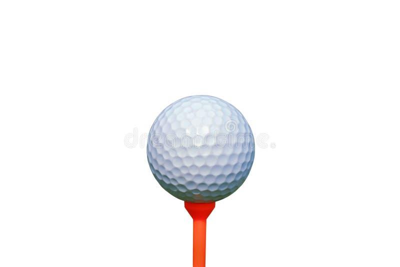 Vit golfboll som isoleras på vit bakgrund arkivfoton
