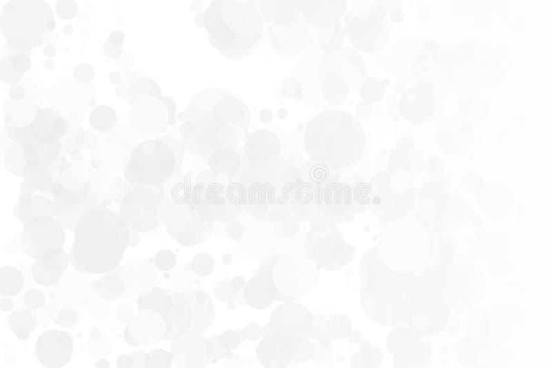 Vit-grå färger bakgrund Ljus textur med bokeheffekt Scalable vektordiagram Delikat elegant modell vektor illustrationer