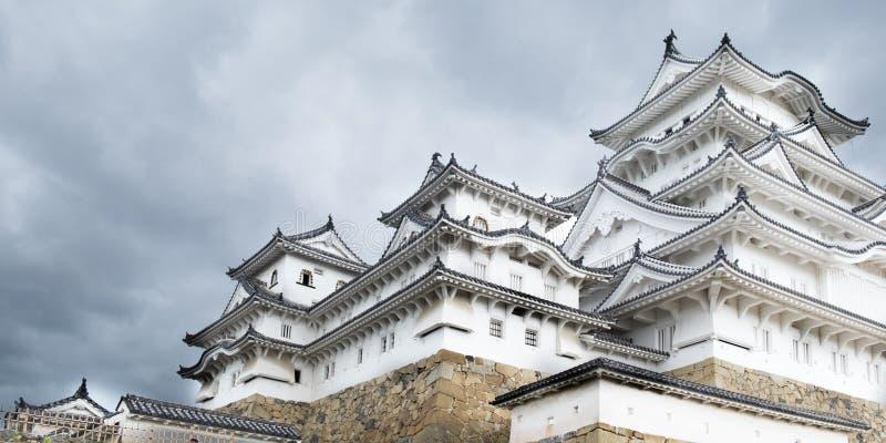 Vit Himeji slott royaltyfri foto