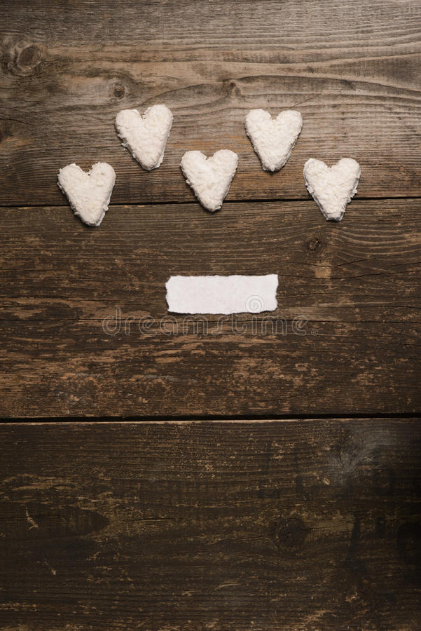Vit hjärta av kakor fotografering för bildbyråer