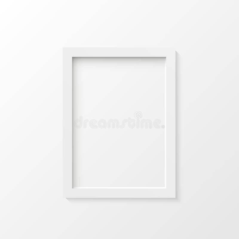 Vit illustration för bildram royaltyfri illustrationer