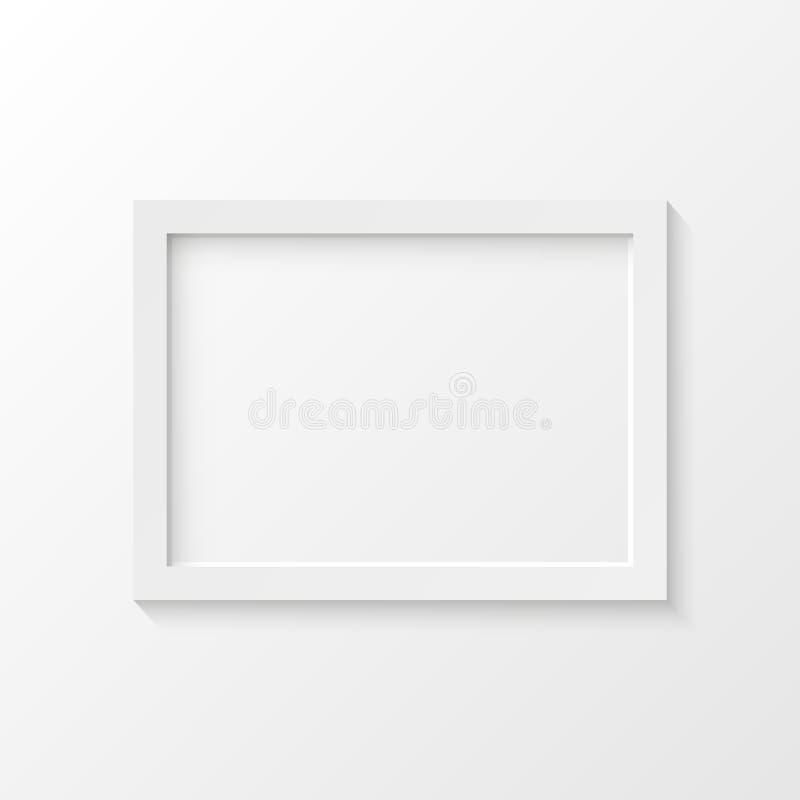 Vit illustration för vektor för bildram royaltyfri illustrationer