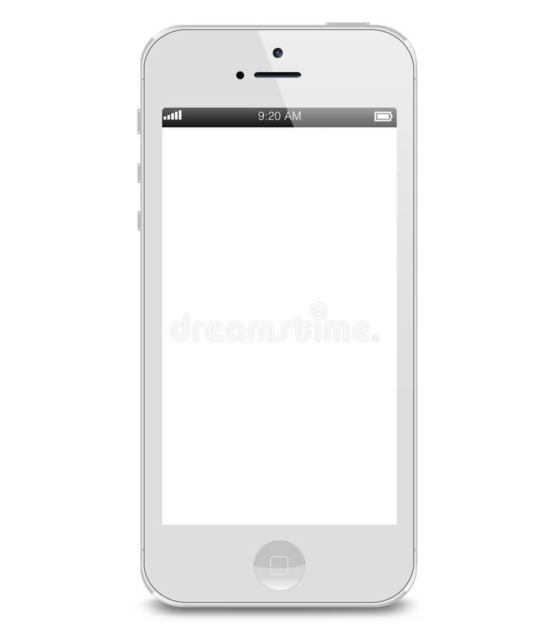 Vit iphone 5s royaltyfri illustrationer