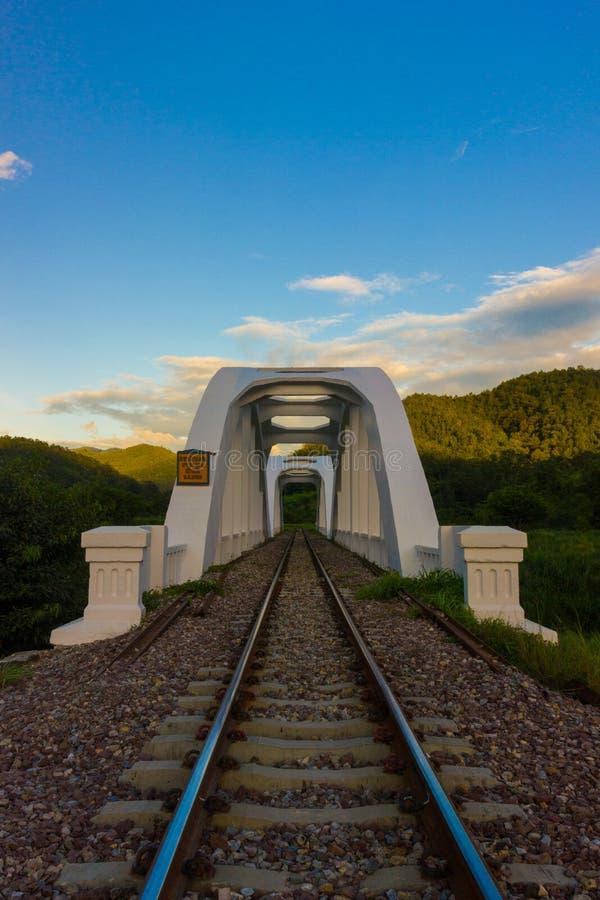 Vit järnväg lumphun royaltyfri fotografi