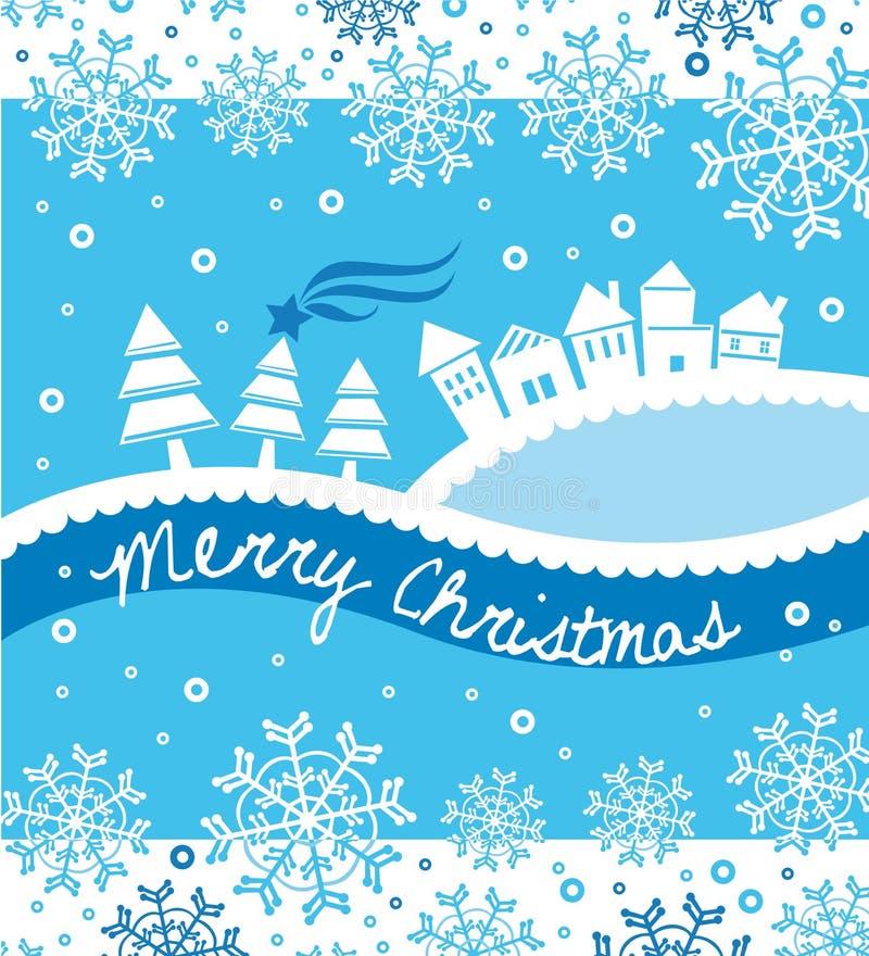 vit jul stock illustrationer