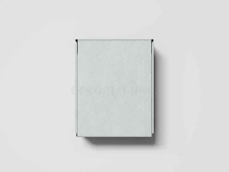 Vit kartong på vit bakgrund, tolkning 3d stock illustrationer