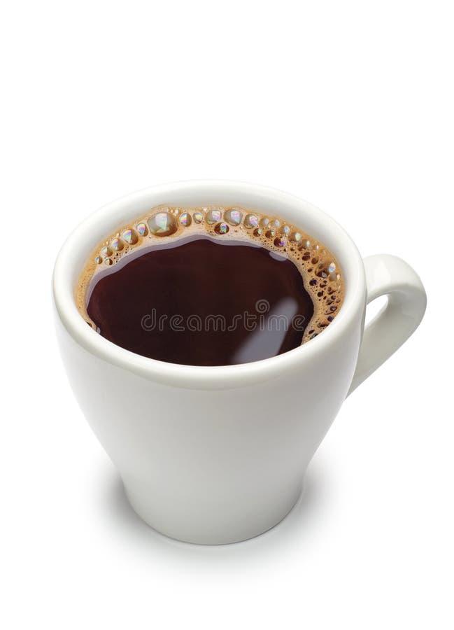 Vit kopp kaffe royaltyfria foton
