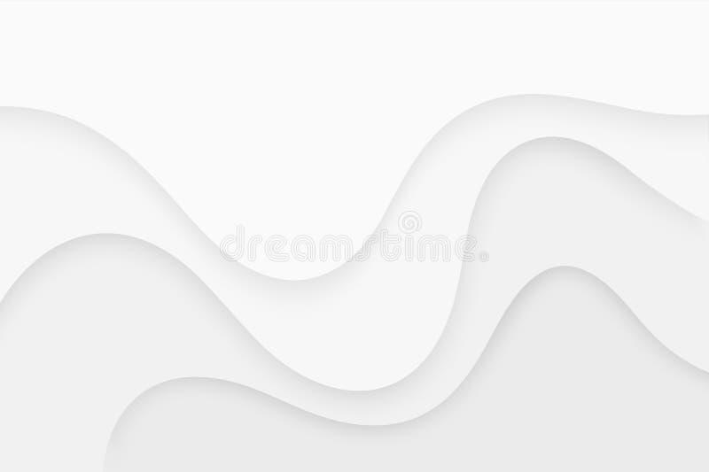 Vit krabb bakgrund papperssnittstil Vektor Eps10 vektor illustrationer