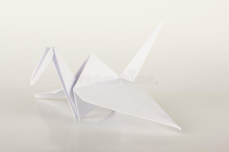 Vit kran för origami för Japan papper arkivbild