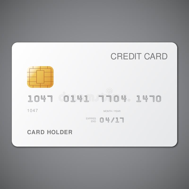 Vit kreditkort stock illustrationer