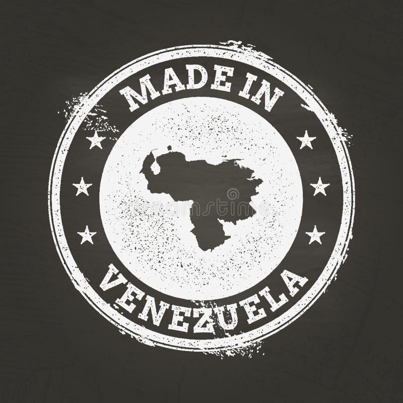 Vit kritatextur som göras i stämpel med Bolivarian stock illustrationer