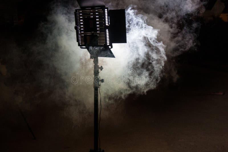 Vit ledd fastställd ljus och dimma arkivbilder