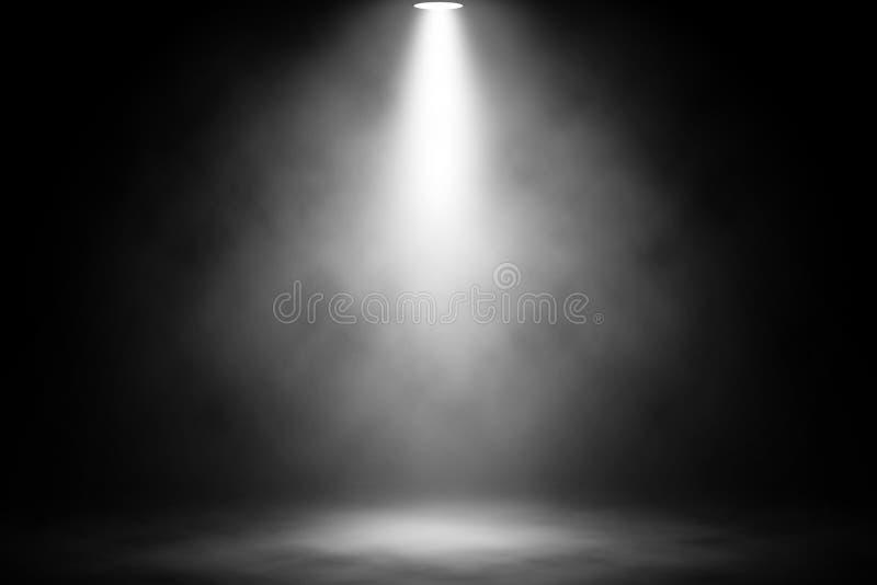 Vit ljus rök på golvet arkivbild