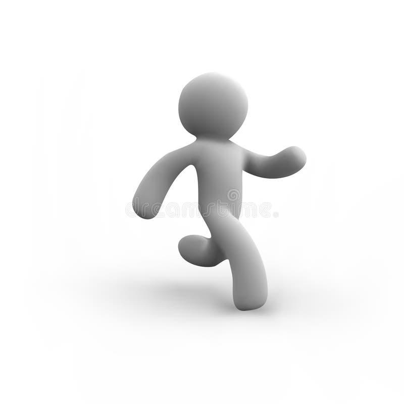 Vit mänsklig running för vektor stock illustrationer