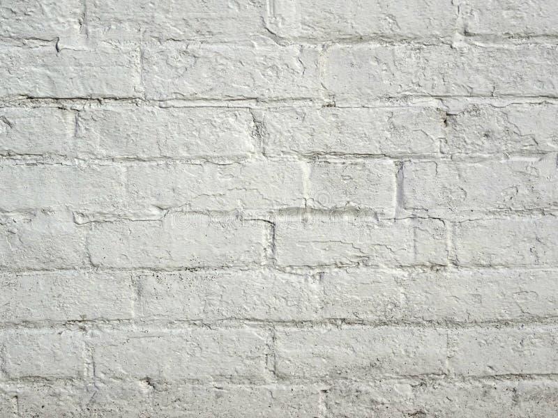 Vit målad bakgrund för tegelstenvägg fotografering för bildbyråer