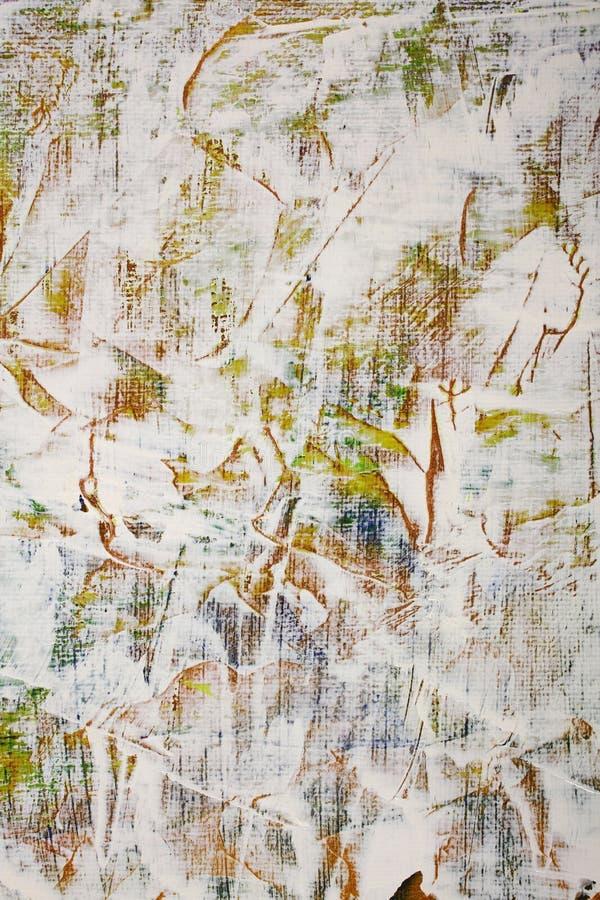 Vit målarfärg som kommas med upp av spateln stock illustrationer