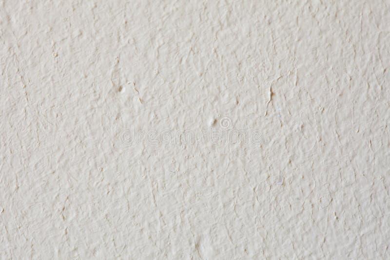 Vit målarfärgbetongväggbakgrund eller textur fotografering för bildbyråer