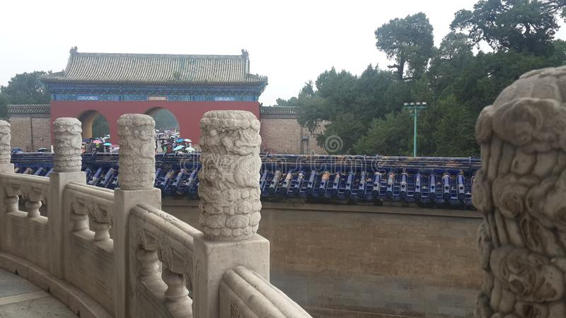 Vit marmorbilaga i Peking, Kina arkivfoton