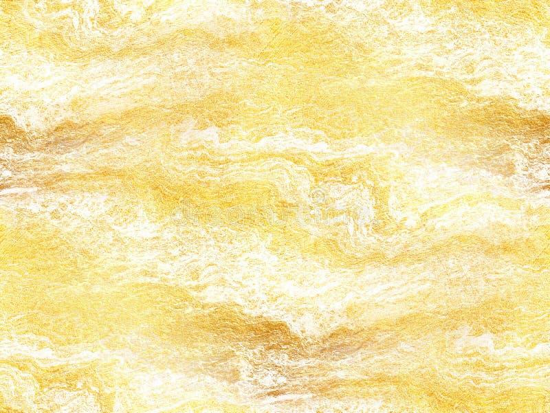 Vit marmorerar textur med guld- åder - abstrakt bakgrund royaltyfri bild