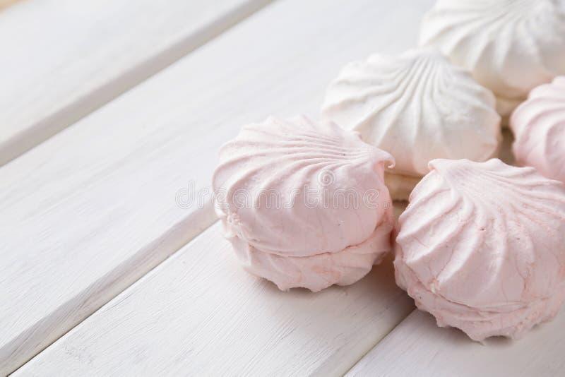 Vit marshmallow royaltyfri fotografi