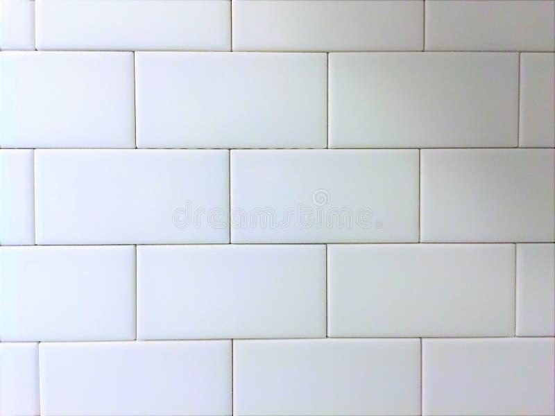 Vit modell för tegelplattaBacksplash gångtunnel arkivbild