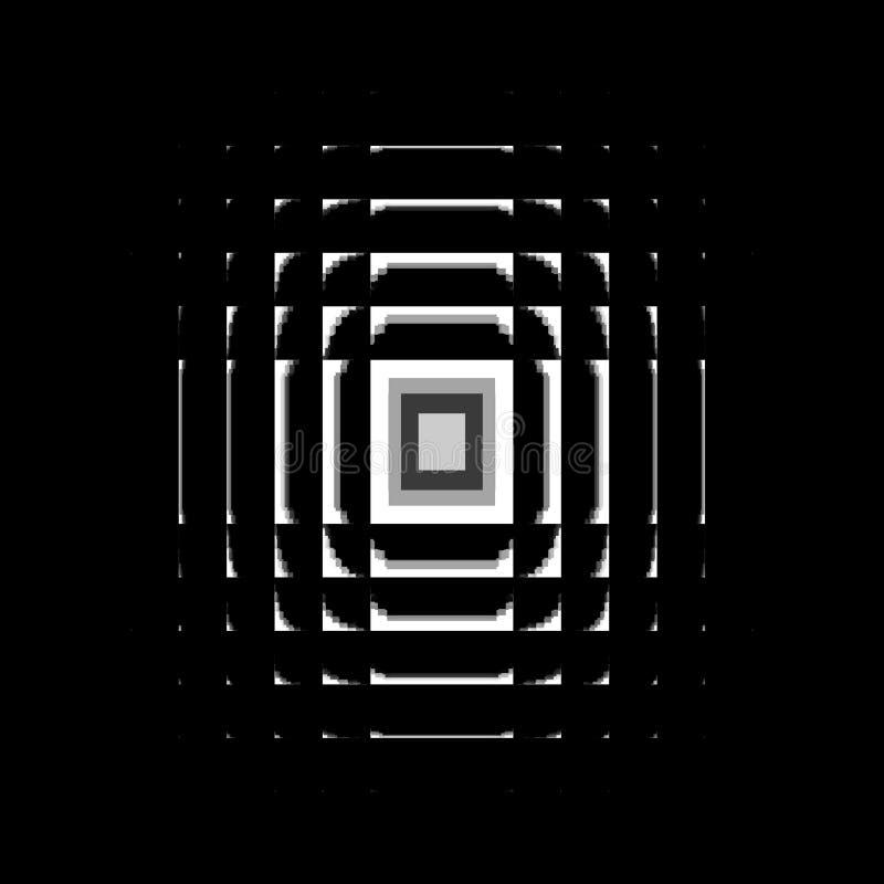 Vit modell på en svart bakgrund vektor illustrationer