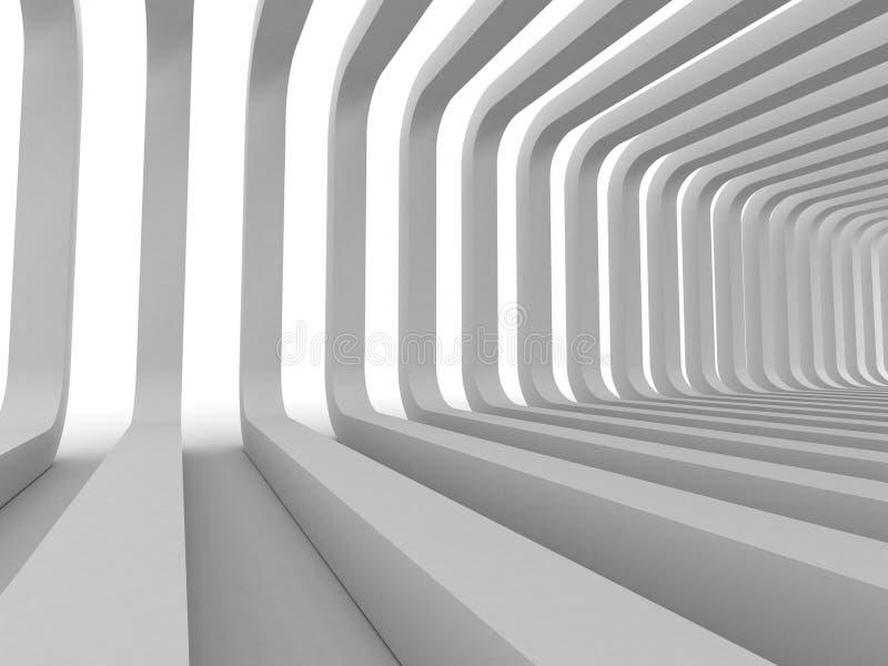 Vit modern arkitekturabstrakt begreppbakgrund stock illustrationer
