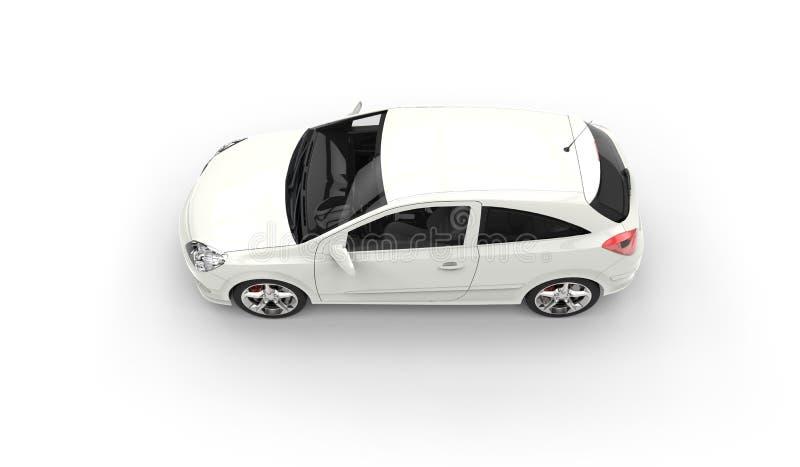 Vit modern för överkantsida för kompakt bil sikt fotografering för bildbyråer