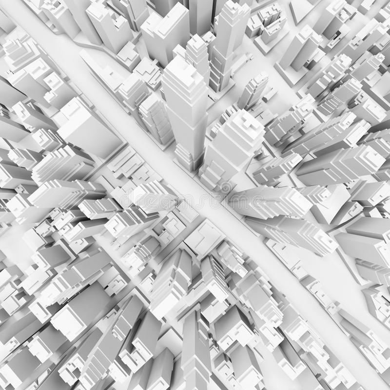 Vit modern stad arkivfoto