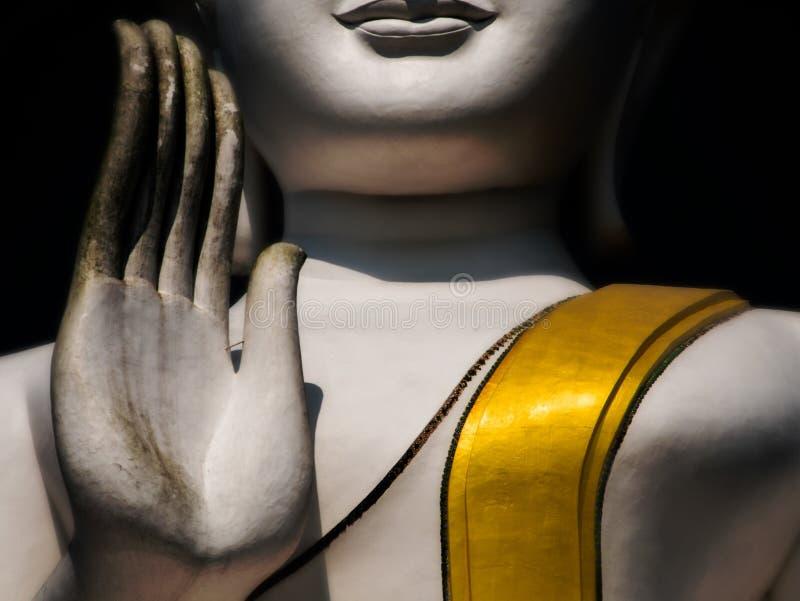Vit och guld- stora buddha lift1 fotografering för bildbyråer