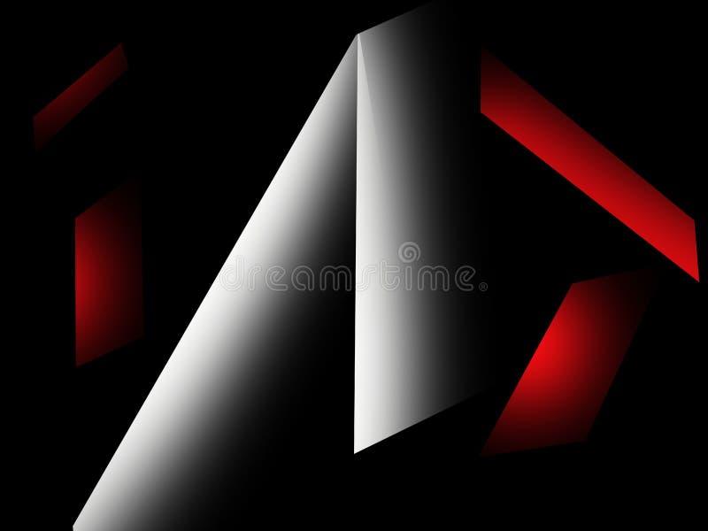 Vit och röd designmodell på svart bakgrund royaltyfria foton