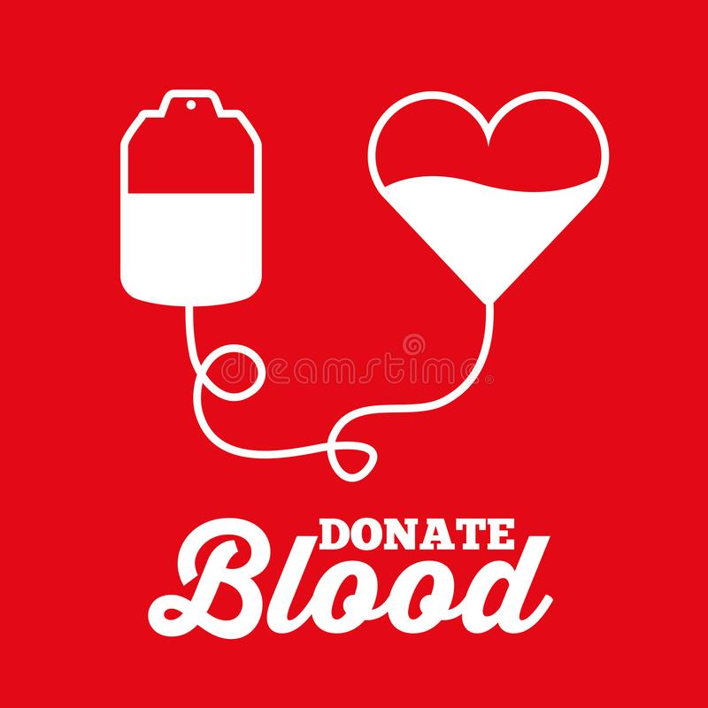 Vit påsehjärta donerar blodtransfusionläkarundersökning stock illustrationer