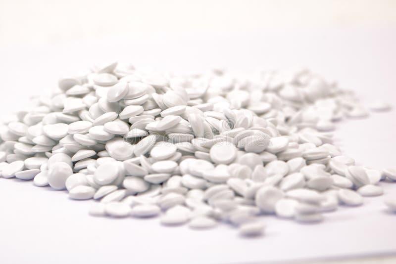 vit polymer arkivbild