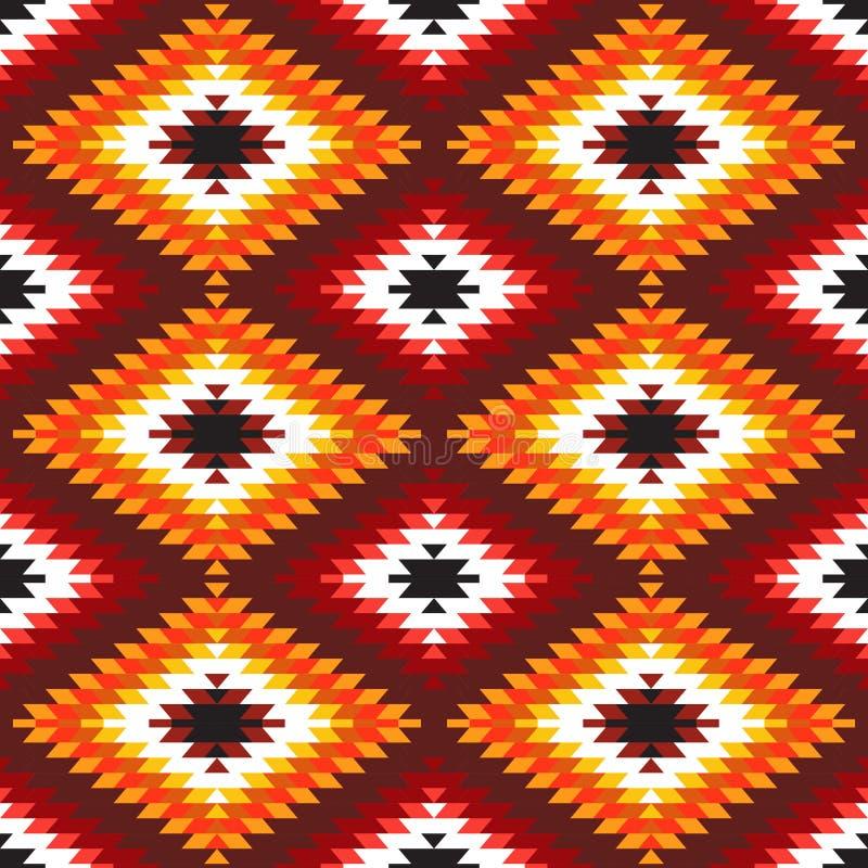 Vit röd orange bordeaux burgundy för sömlös matta för modell turkisk Filt för kilim för färgrik patchworkmosaik orientalisk med t royaltyfri illustrationer