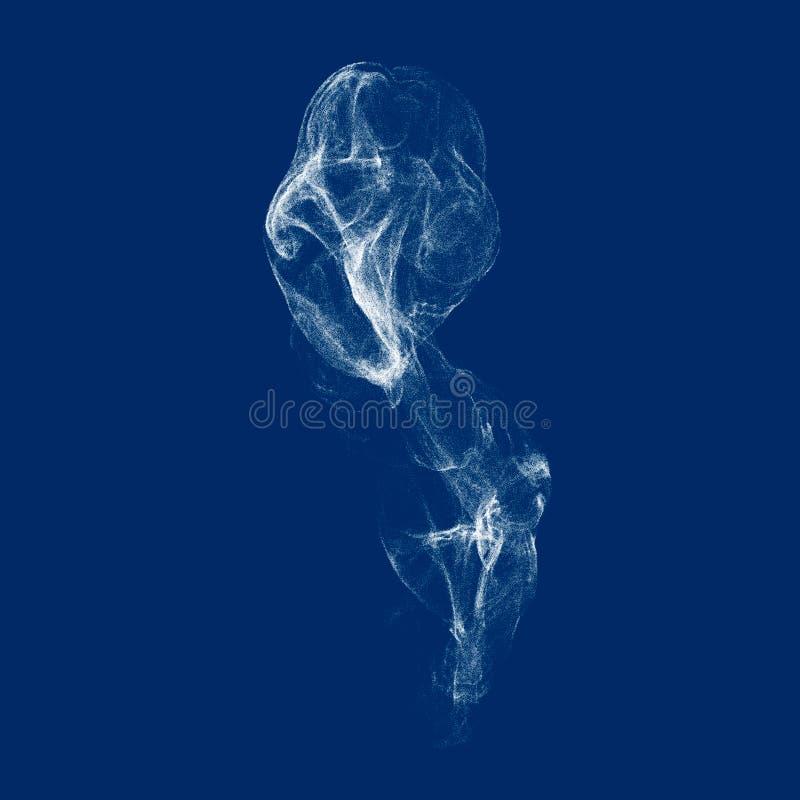 Vit röker Isolerat på blåttbakgrund royaltyfri illustrationer