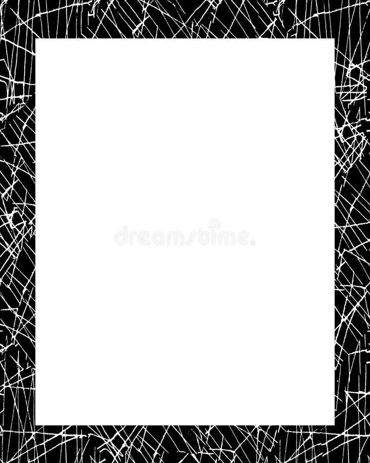 Vit ram med dekorerade gränser stock illustrationer