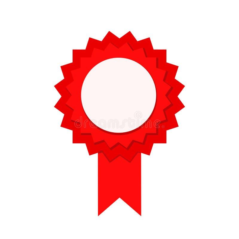 Vit?ria vermelha da garantia do selo com fita, ilustra??o conservada em estoque do vetor ilustração royalty free