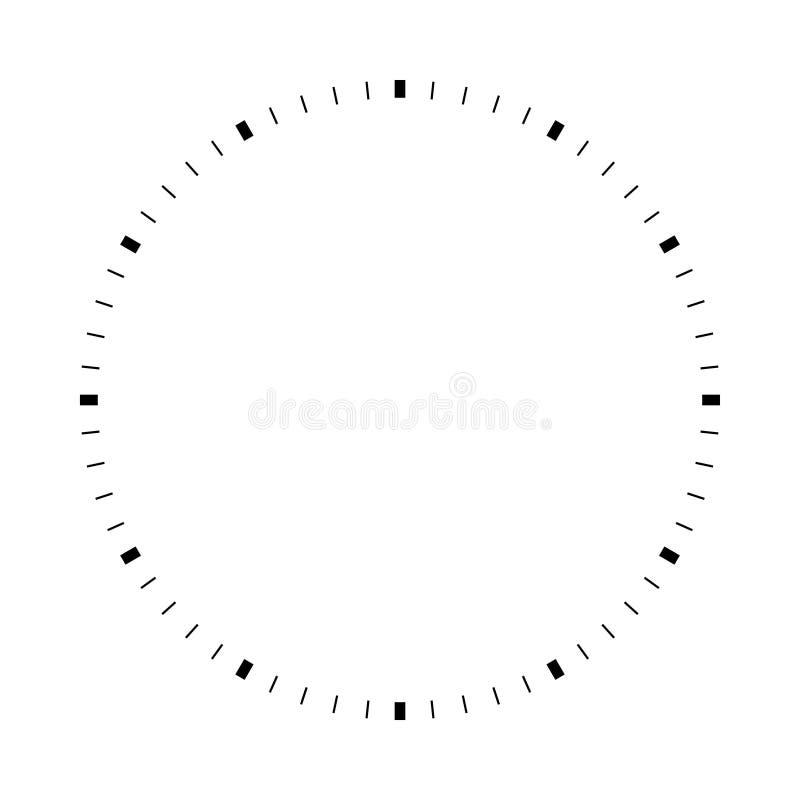 Vit rund visartavla för mellanrum stock illustrationer